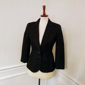 Nine West black pinstripe suit